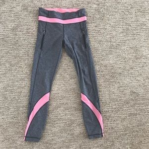 lululemon inspire tight grey with coral mesh 4